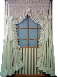 CAROLINA STYLE COUNTRY RUFFLES CURTAINS