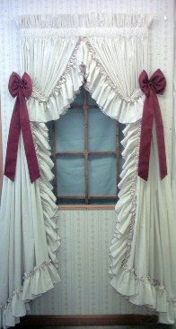 Ruffled Curtains - Ruffled Country Style Curtains - Carolina